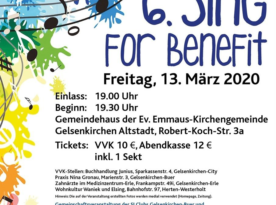 Sing for Benefit am 13.03.2020